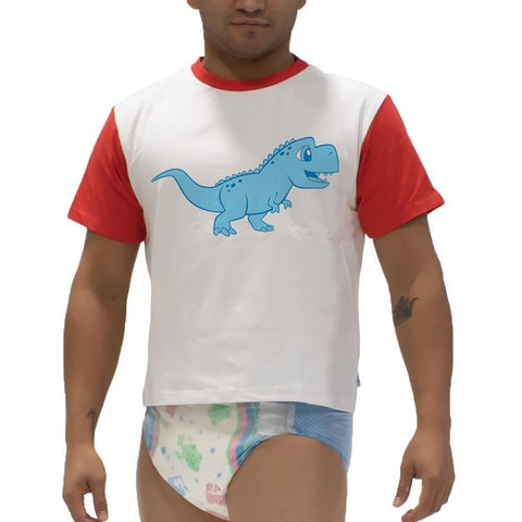 Little Rawr T-Rex Snappies Play Shirt Snappies - Tykables