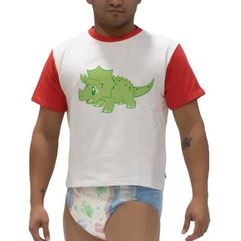 Little Rawr Triceratops Snappies Play Shirt Snappies - Tykables