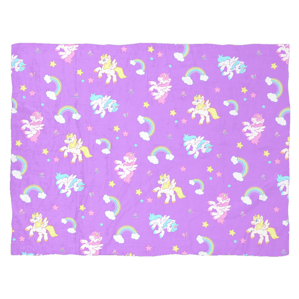 Unicorn Fleece Baby Blanket Blankets - Tykables