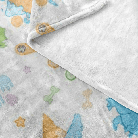 Little Rawr Patterned Fleece Baby Blanket Blankets - Tykables