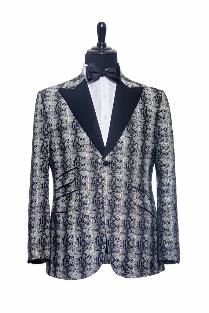 Holland & Sherry: Black and White Snakeskin Custom Tuxedo