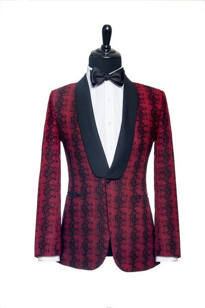 Holland & Sherry: Red and Black Snakeskin Custom Tuxedo