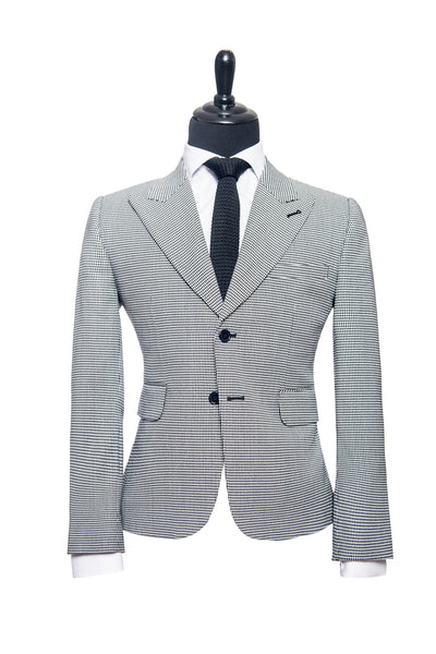 Armani: Black and White Houndstooth Custom Suit