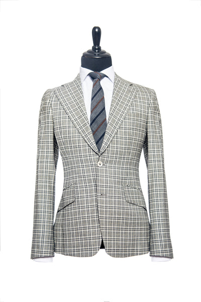 Brown Check Custom Suit