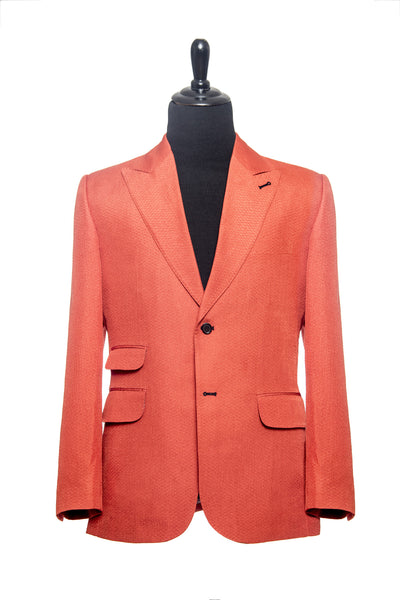 Carolina Herrera: Burnt Orange Silk and Wool Custom Blazer