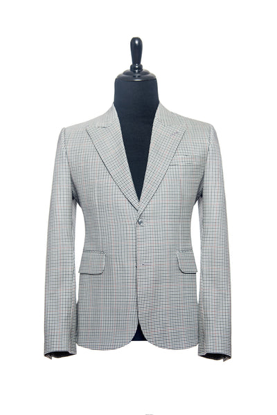 Black, White with Red Checks Custom Blazer