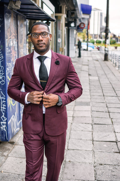 Burgundy Cashmere Custom Suit