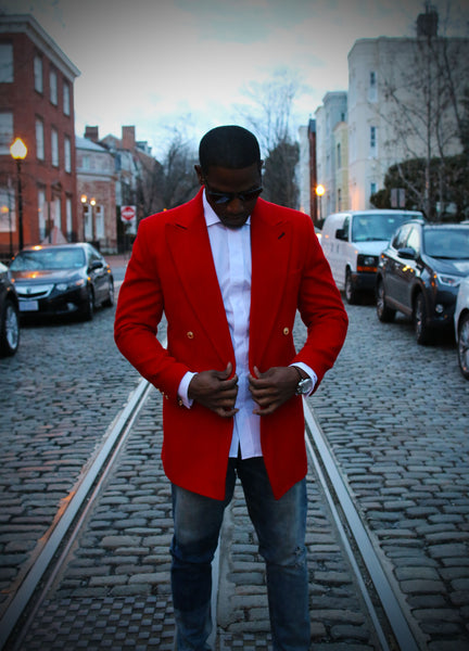 Red Cashmere Custom Overcoat