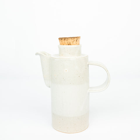 Stoneware Pitcher - Combination White Matte/Gloss