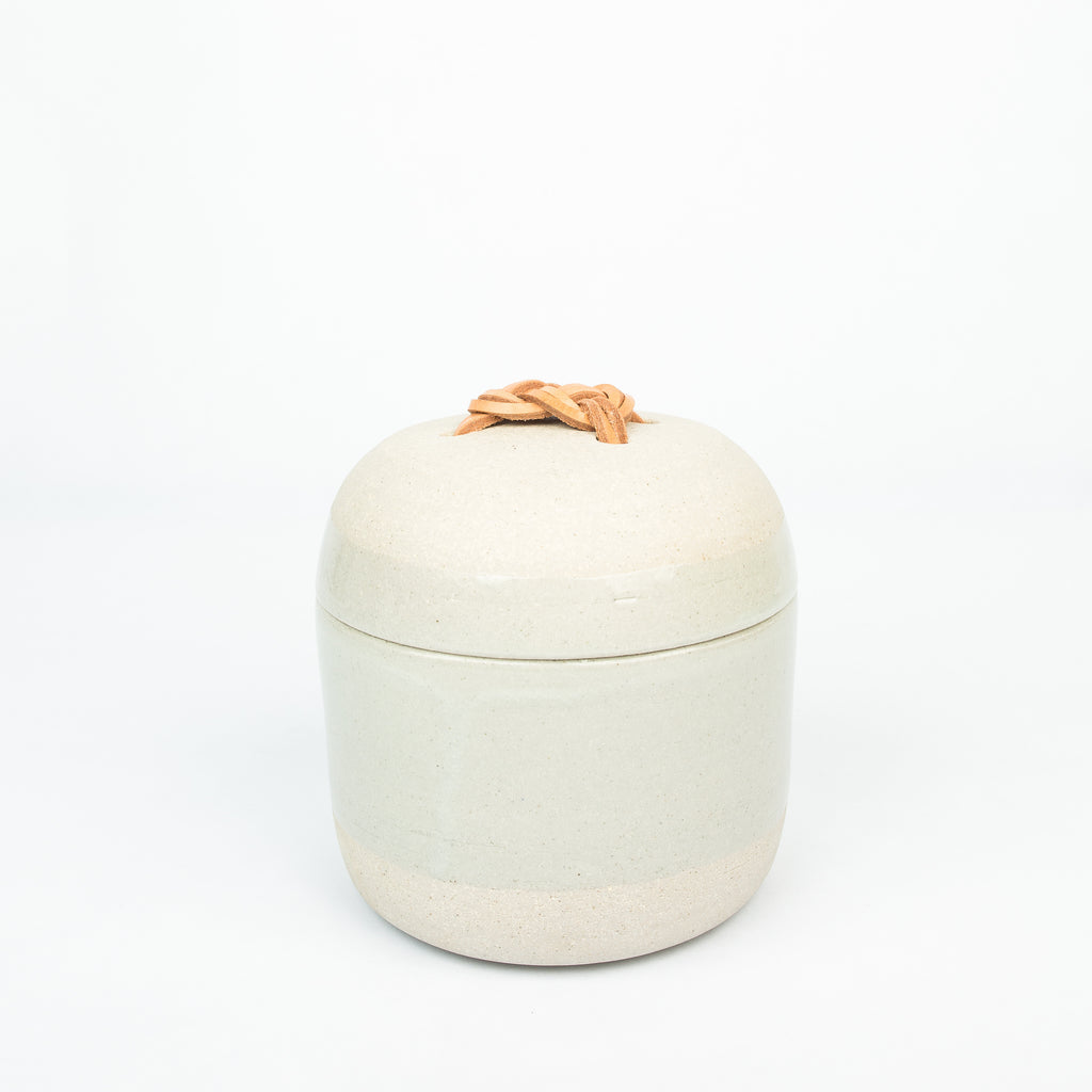 Stoneware Lidded Jar - Carrick Bend Knot