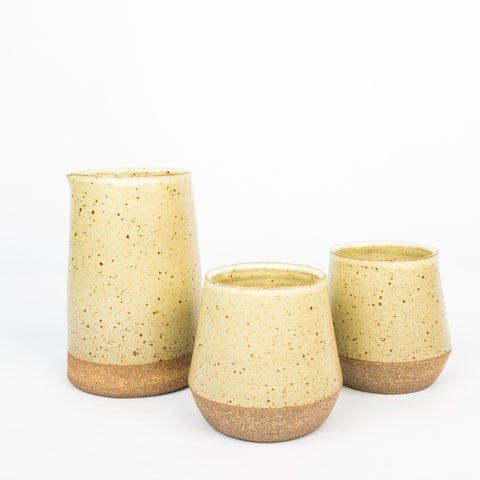 Stoneware Carafe Set - Tan