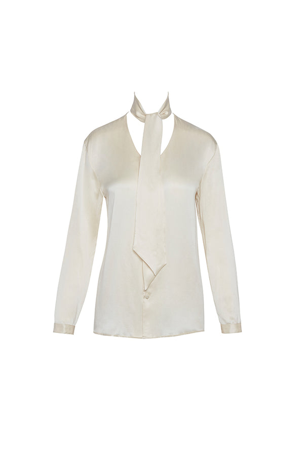 Angelina Silk Scarf Blouse