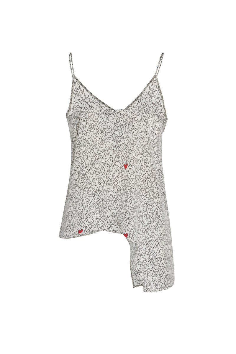 Silk Alexa Heart Print Tank & Mask Bundle