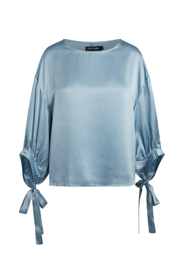 Constance Three-Quarter Tie Sleeve Blouse
