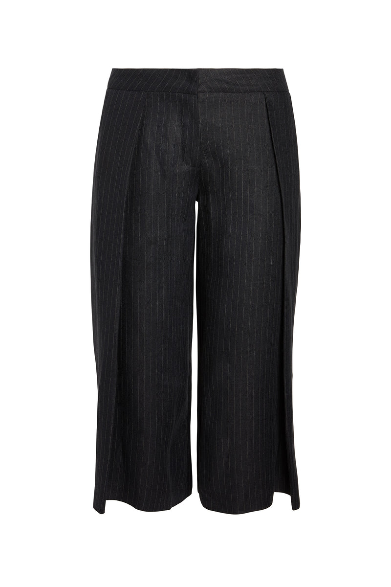 Carrie Pleated Linen Culotte