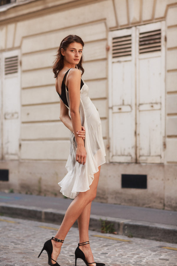 Estella High-Low Silk Slip Dress