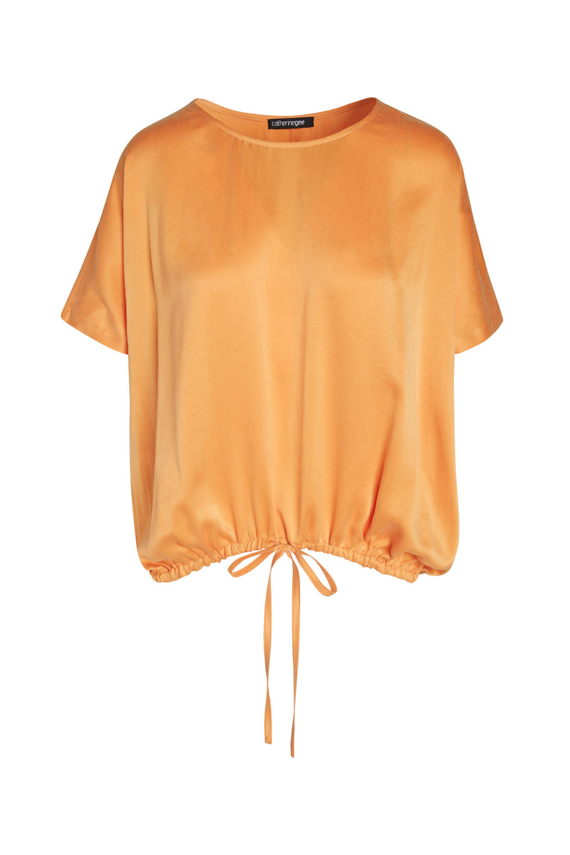 Hailey Drawstring Hem Silk T-Shirt