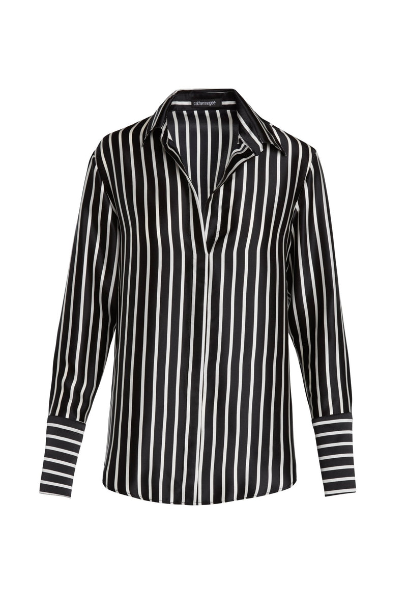 Daria French Cuff Silk Blouse