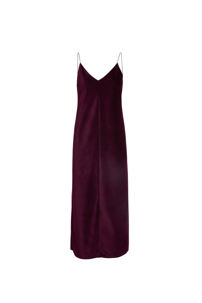 Vanessa Velvet Maxi Slip Dress