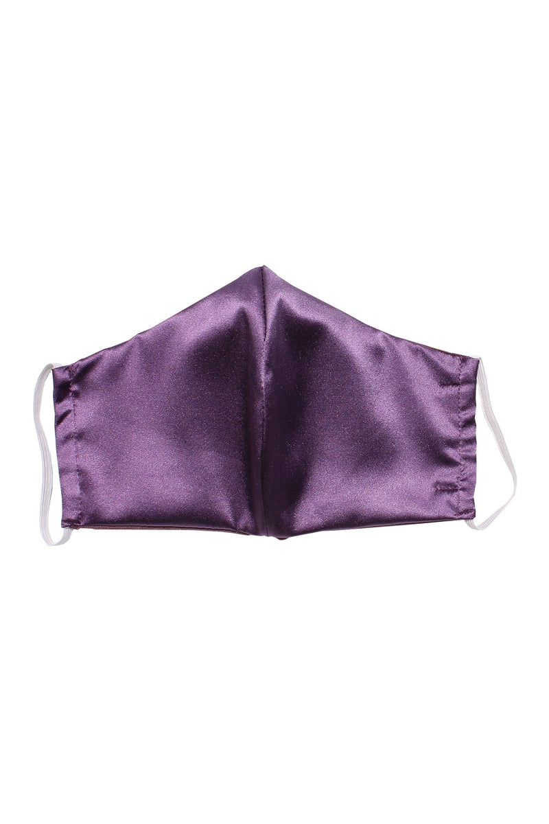 Reusable Silk Face Mask in Purple