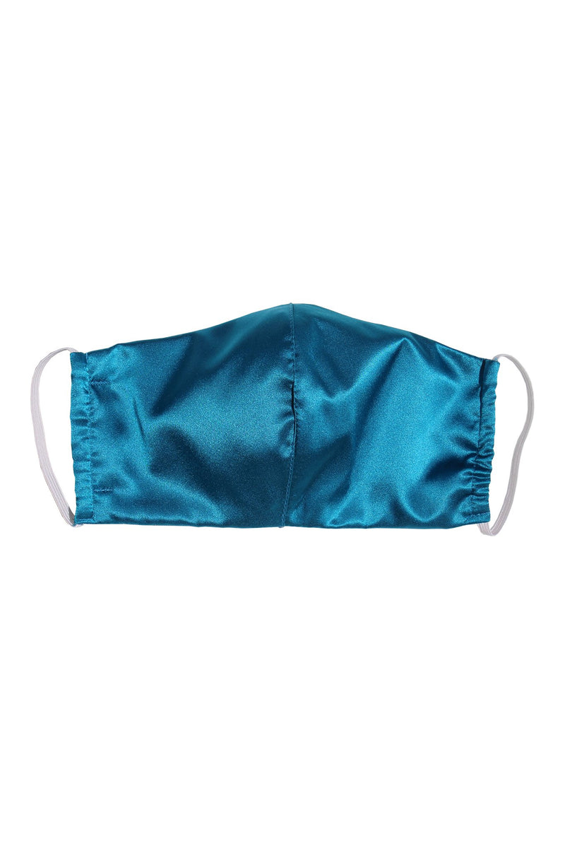 Reusable Silk Face Mask in Teal