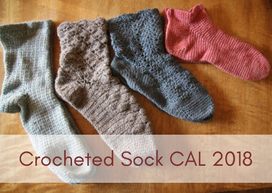 Sock Crochet Along 2018 - #SockCAL2018