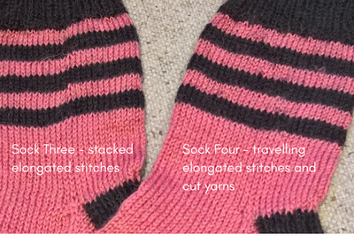 Jog-free Sock Stripes & Two Pairs of Socks from 100g of Yarn