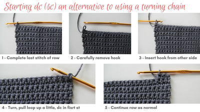 Starting dc crochet rather than turning chains