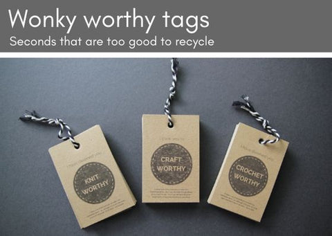 SALE WONKY Worthy gift tags