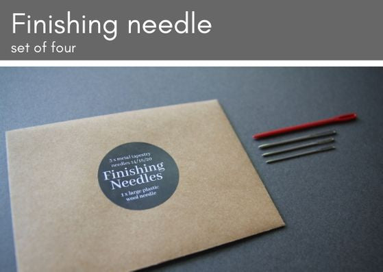 Finishing needles - set of four