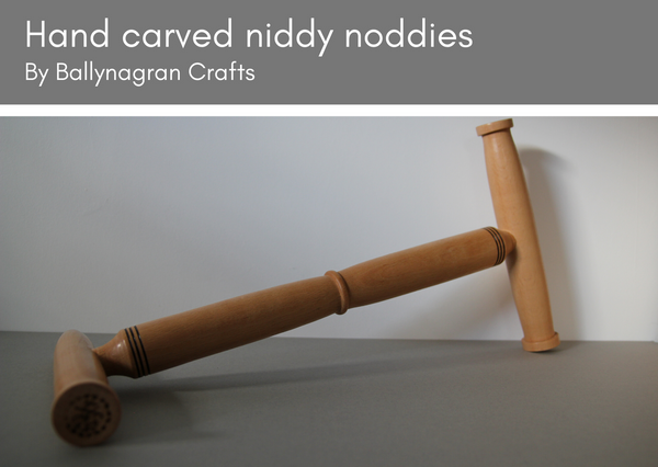 Wooden niddy noddies - made in UK - Provenance Craft Co