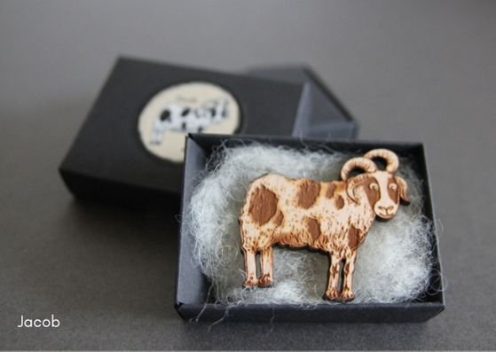 British Breed Brooches by Katie Green - Provenance Craft Co