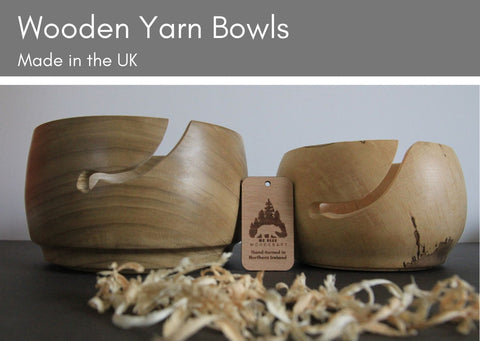 Wooden Yarn Bowls - two sizes & made in the UK - Provenance Craft Co