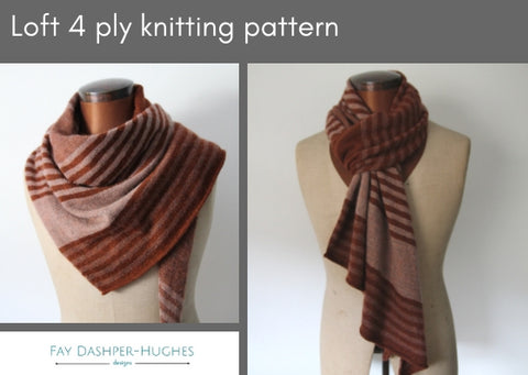 Loft 4 ply knitting pattern - digital or hard copy