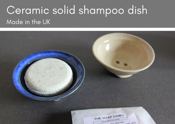 Ceramic shampoo dishes to fit solid shampoo bars