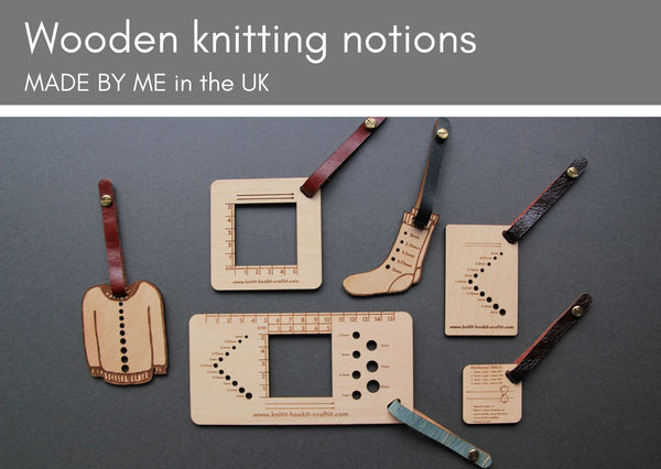 Wooden tools for knitters