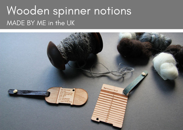Wooden tools for spinners