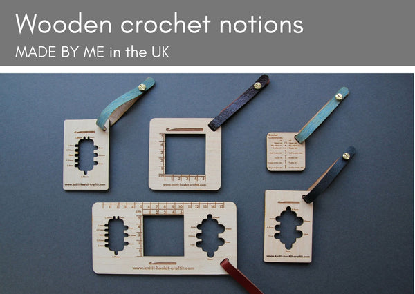 Wooden tools for crocheters