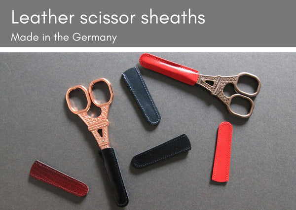 Leather scissor sheaths - Made in Germany - Provenance Craft Co