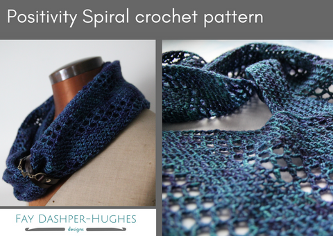 Positivity Spiral crochet pattern - Provenance Craft Co