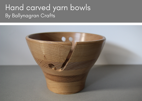 Wooden yarn bowls - made in UK - Provenance Craft Co
