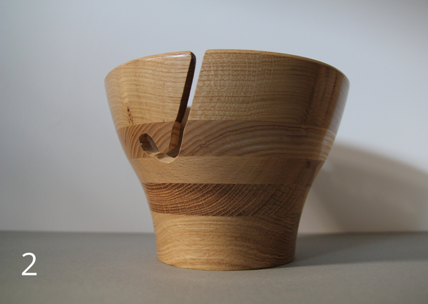 Wooden yarn bowls - made in UK