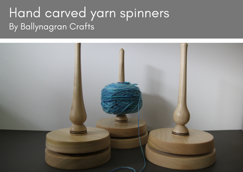 Wooden yarn spinners - made in UK