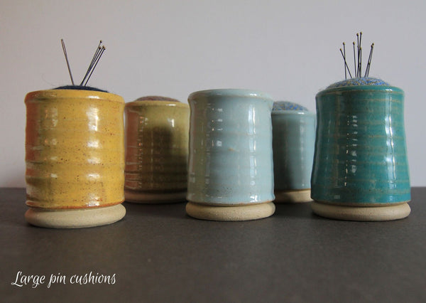 Ceramic & tweed pin cusions - Made in UK - Provenance Craft Co