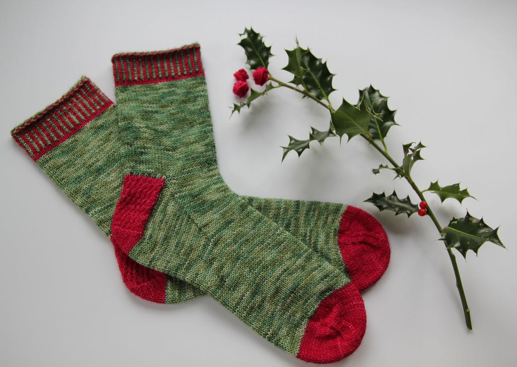 Festive Feet sock knitting pattern - digital or hard copy