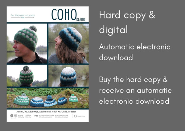 Coho Beanie sportweight knitting pattern - digital or hardcopy