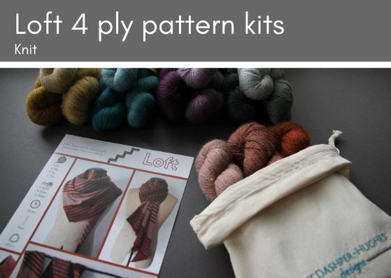 KIT for Loft knitted pattern 4 ply