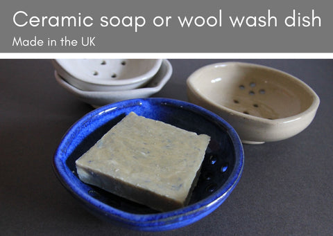 Ceramic soap dishes to fit wool wash bars