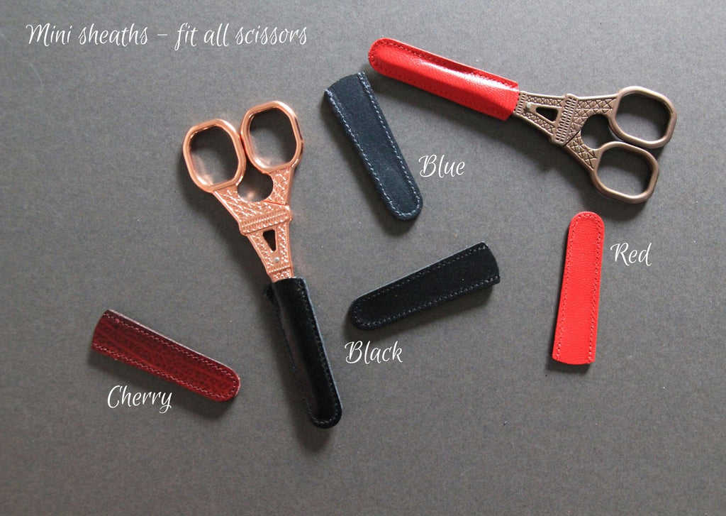 Leather scissor sheaths - Made in Germany
