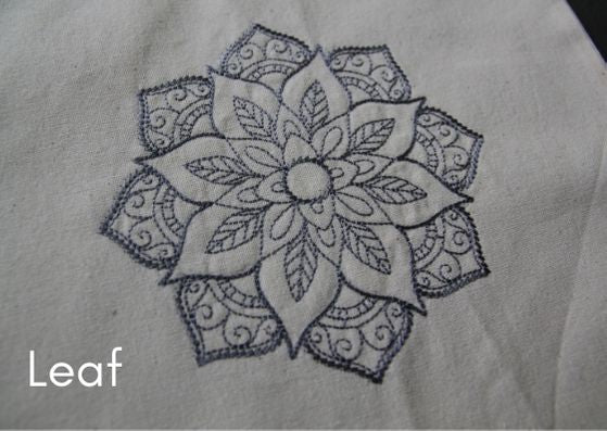 Bag embroidery mandala kits (Mandalas - 3 designs & 5 colourways to choose from)